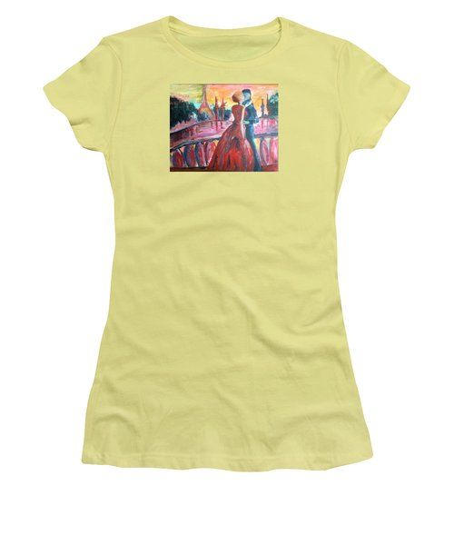 Paris Lovers Women's T-Shirt (Junior Cut) by Roxy Rich
