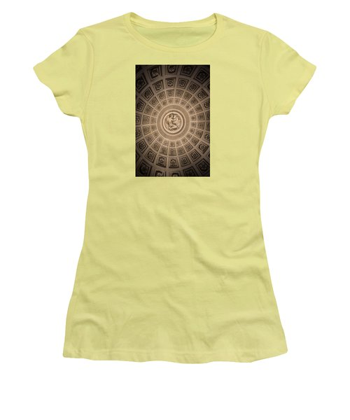 Women's T-Shirt (Junior Cut) featuring the photograph Paris Pantheon Ceiling by Jean Haynes