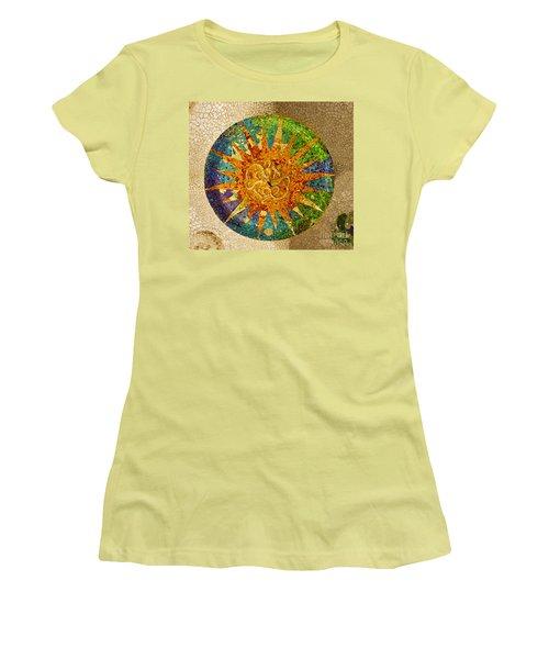 park Guell, Barcelona, Spain Women's T-Shirt (Junior Cut) by Anastasy Yarmolovich