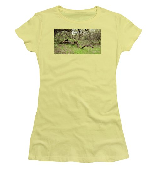 Women's T-Shirt (Athletic Fit) featuring the photograph Park Serpent by Carol Lynn Coronios
