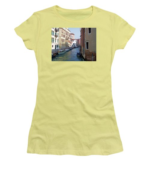 Women's T-Shirt (Junior Cut) featuring the photograph Parked In Venice by Roberta Byram