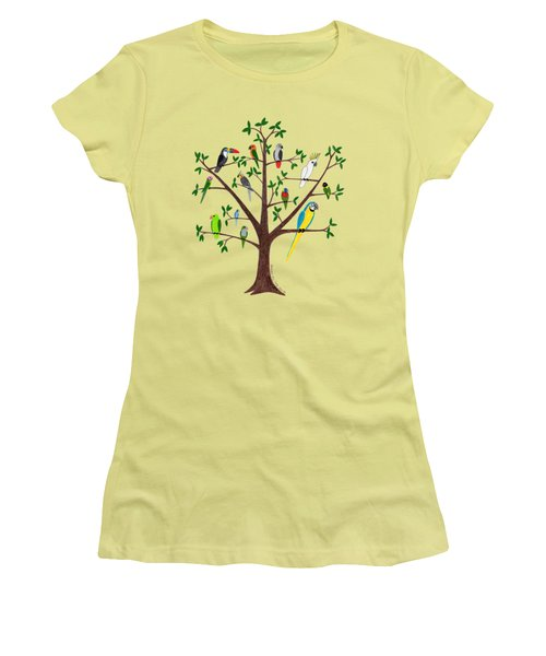Parrot Tree Women's T-Shirt (Junior Cut)