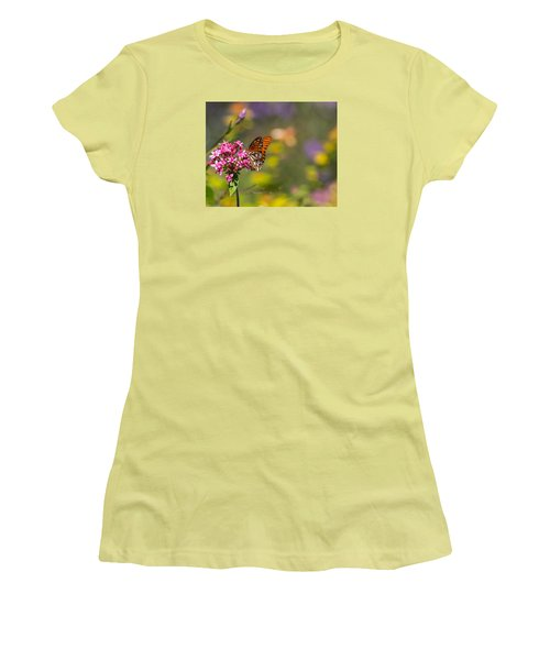 Women's T-Shirt (Athletic Fit) featuring the photograph Passion Butterfly  by Julie Andel