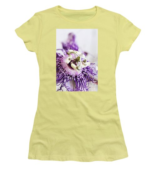 Women's T-Shirt (Junior Cut) featuring the photograph Passion Flower by Stephanie Frey
