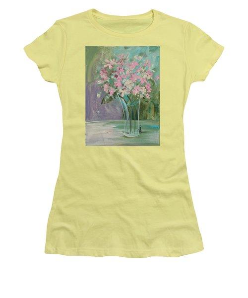 Pastel Blooms Women's T-Shirt (Junior Cut) by Terri Einer