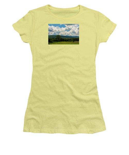 Pastoral Landscape With Mountains Women's T-Shirt (Junior Cut) by Nancy De Flon