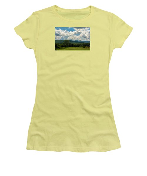 Pastoral Landscape With Mountains Women's T-Shirt (Athletic Fit)
