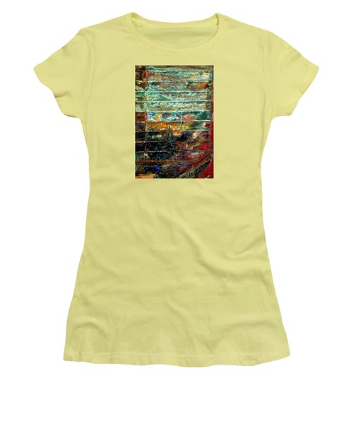 Women's T-Shirt (Junior Cut) featuring the photograph Patchworks 1 by Newel Hunter