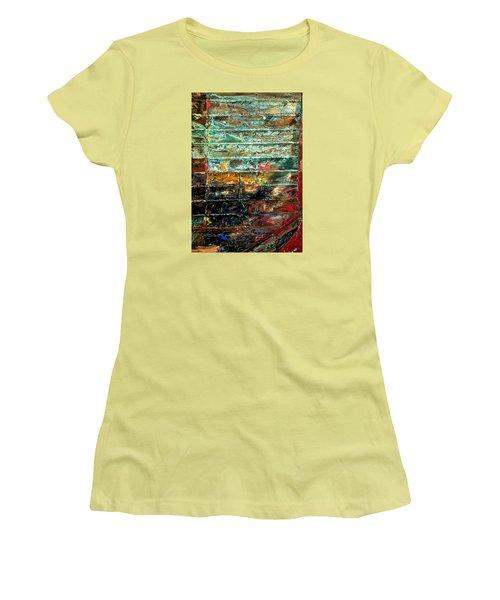 Patchworks 1 Women's T-Shirt (Junior Cut) by Newel Hunter