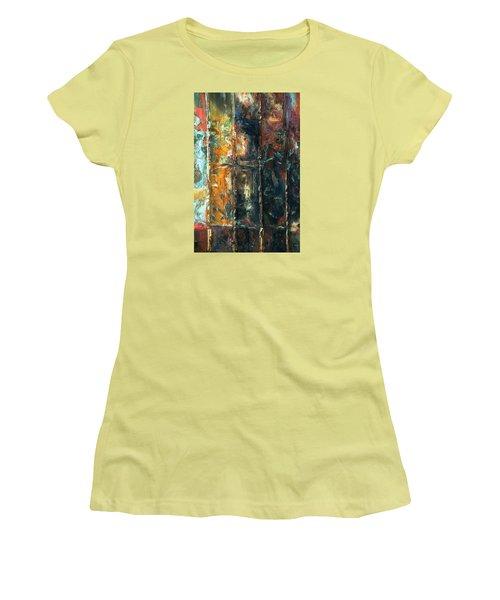Patchworks 2 Women's T-Shirt (Junior Cut) by Newel Hunter