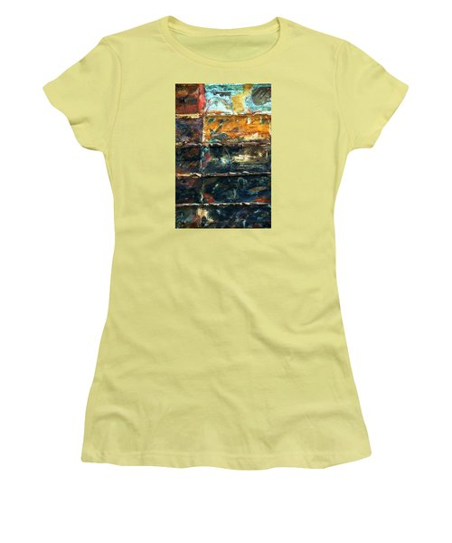 Women's T-Shirt (Junior Cut) featuring the photograph Patchworks 3 by Newel Hunter