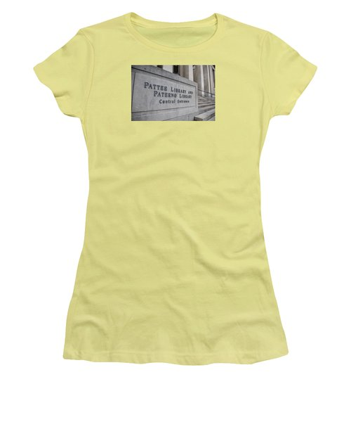 Paterno Library At Penn State  Women's T-Shirt (Junior Cut)