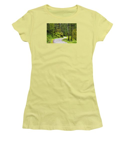 Women's T-Shirt (Junior Cut) featuring the photograph Path In The Forest by Yuri Santin