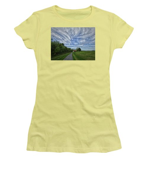 Women's T-Shirt (Junior Cut) featuring the photograph Path by Robert Geary