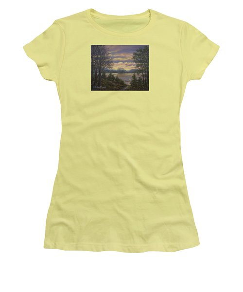 Women's T-Shirt (Junior Cut) featuring the painting Path To The River by Kathleen McDermott