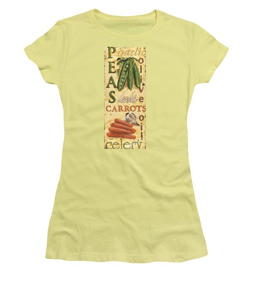 Pea Soup Women's T-Shirt (Junior Cut) by Debbie DeWitt