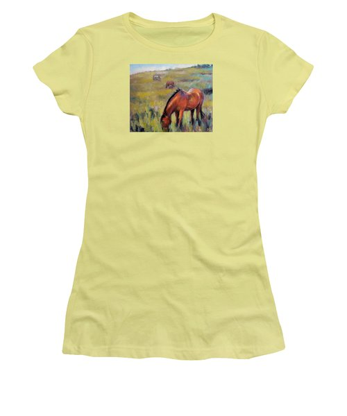 Peace On The Mountain Women's T-Shirt (Athletic Fit)
