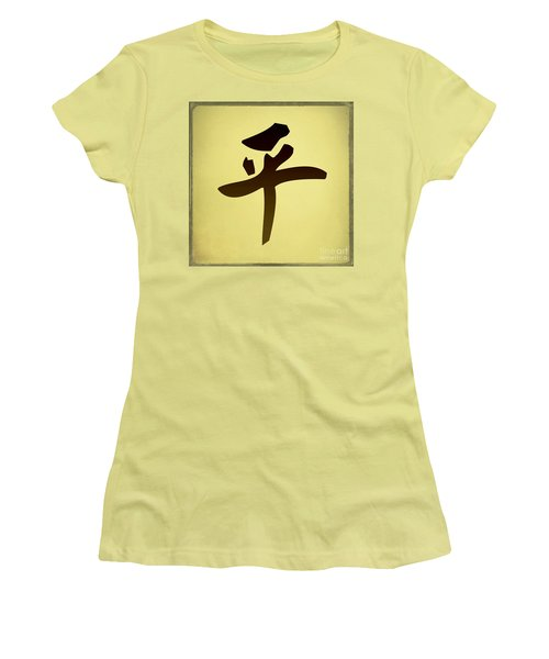 Peace   Women's T-Shirt (Junior Cut) by Teresa Zieba
