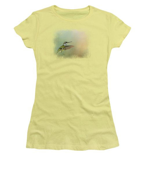 Peaceful Day With A Hummingbird Women's T-Shirt (Athletic Fit)