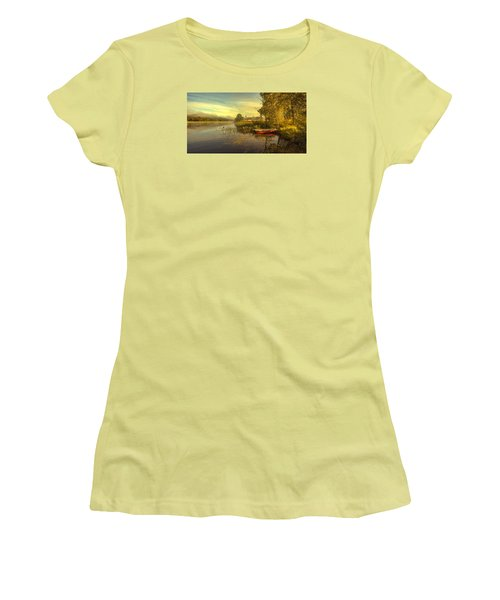 Women's T-Shirt (Junior Cut) featuring the photograph Peaceful Morning by Rose-Maries Pictures