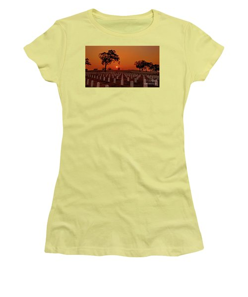 Peaceful Sunset Women's T-Shirt (Athletic Fit)