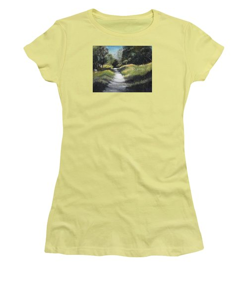Peaceful Walk In The Foothills Women's T-Shirt (Athletic Fit)