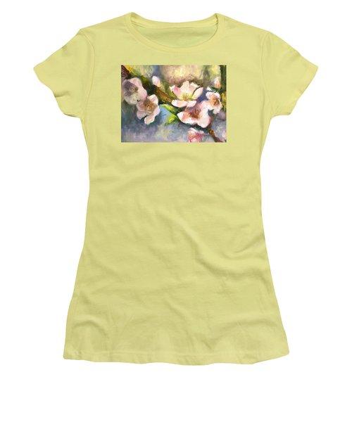Peach Blossoms Women's T-Shirt (Athletic Fit)