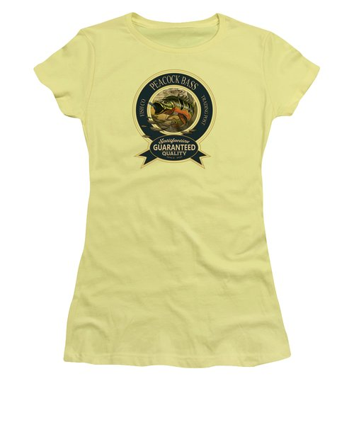 Peacock Bass Logo Women's T-Shirt (Athletic Fit)