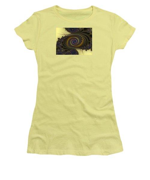 Women's T-Shirt (Junior Cut) featuring the digital art Peacock by Karin Kuhlmann