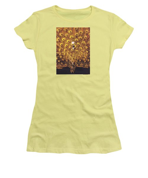 Peacock Man Women's T-Shirt (Junior Cut) by Seth Weaver