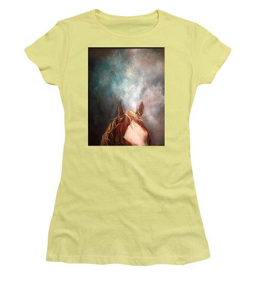 Peakabo  Women's T-Shirt (Junior Cut) by Heather Roddy