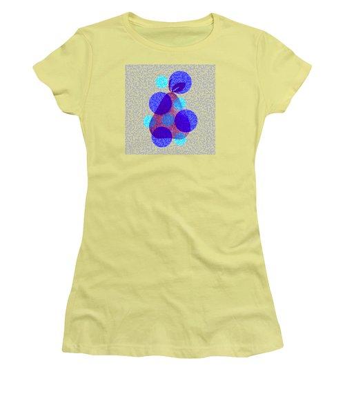 Pear In Blue Women's T-Shirt (Junior Cut) by Coco Des