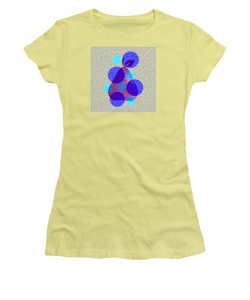 Pear In Blue Women's T-Shirt (Athletic Fit)