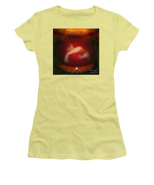Pearl Of Love Women's T-Shirt (Junior Cut) by Rosa Cobos