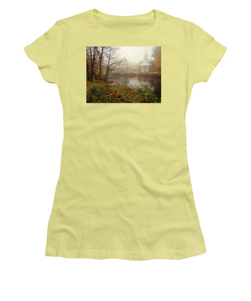 Foggy Glimpse Women's T-Shirt (Junior Cut) by Betsy Zimmerli