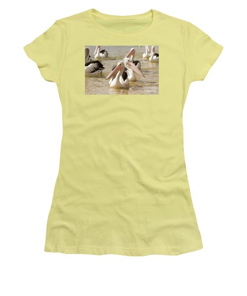 Pelicans Women's T-Shirt (Junior Cut) by Craig Dingle