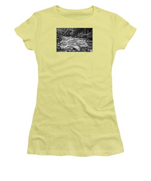 Pemi River Black-white Women's T-Shirt (Athletic Fit)