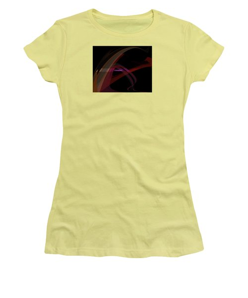 Women's T-Shirt (Junior Cut) featuring the painting Penman Original-293- A Glimmer Of Hope by Andrew Penman
