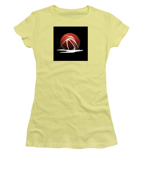 Women's T-Shirt (Junior Cut) featuring the painting Penman Original-303 by Andrew Penman