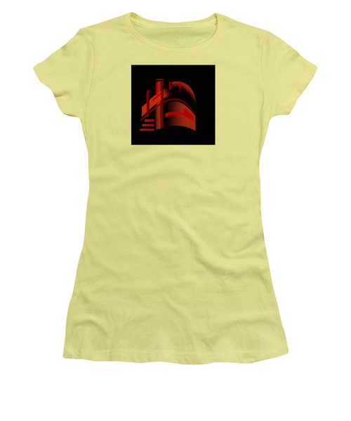 Women's T-Shirt (Junior Cut) featuring the painting Penman Original-313 From A Crowded Room by Andrew Penman
