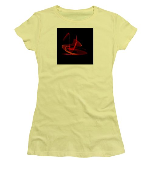 Women's T-Shirt (Junior Cut) featuring the painting Penman Original-316 Saturday Night Fever by Andrew Penman