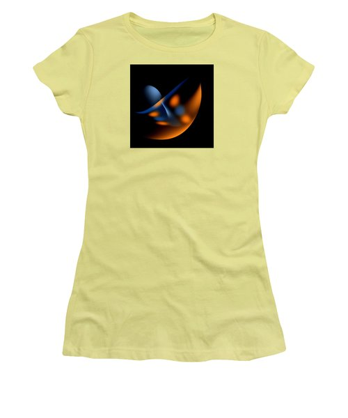 Women's T-Shirt (Junior Cut) featuring the painting Penman Original-327 On Top Of The World Ready To Fly by Andrew Penman