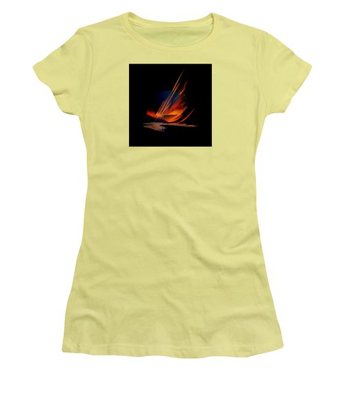 Women's T-Shirt (Junior Cut) featuring the painting Penman Original-335 by Andrew Penman