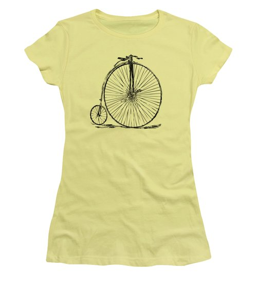 Penny-farthing 1867 High Wheeler Bicycle Vintage Women's T-Shirt (Junior Cut) by Nikki Marie Smith