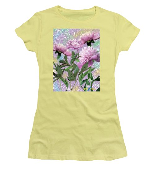 Peonies 6 Women's T-Shirt (Junior Cut) by John Selmer Sr