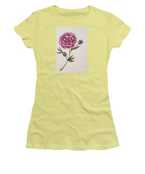 Peony Botanical Women's T-Shirt (Athletic Fit)