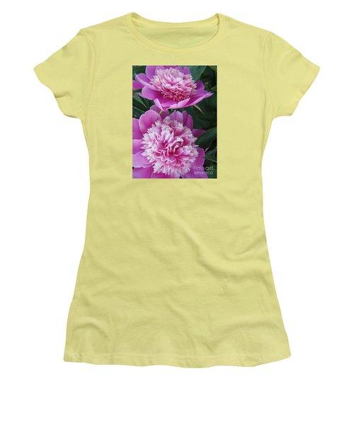 Peony Women's T-Shirt (Junior Cut) by Kristine Nora