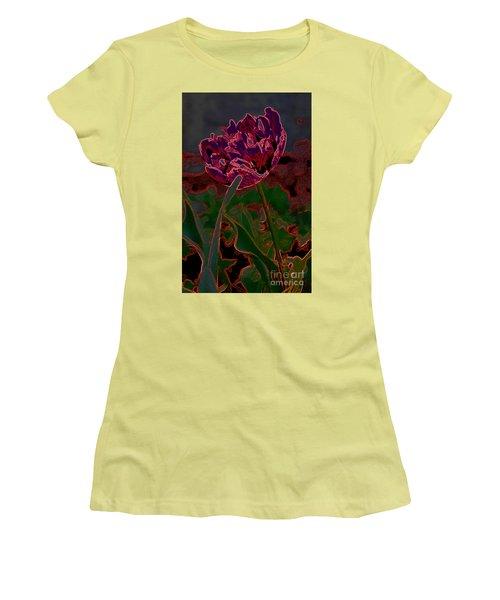 Peony Tulip Women's T-Shirt (Athletic Fit)