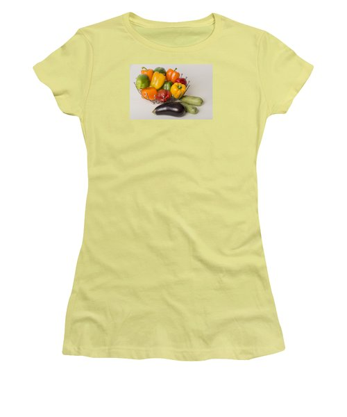 Pepper To Squash Women's T-Shirt (Junior Cut) by Laura Pratt