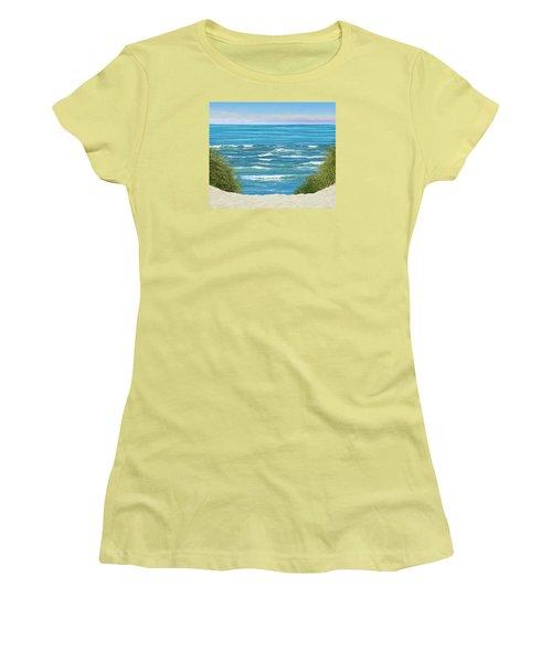 Women's T-Shirt (Junior Cut) featuring the photograph Perfect Seas by Adria Trail
